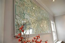 broken mirror diy mirror wall art