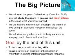 valentine carol ann duffy ppt video online we will the poem valentine by carol ann duffy you will study the poem in groups and teach others in the
