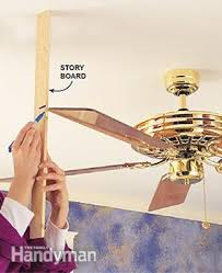 ceiling fan box. check the blades and blade irons ceiling fan box