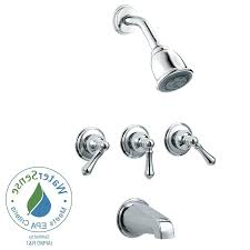 3 handle tub and shower faucet brushed nickel photo 1 of 6 delightful 3 handle tub