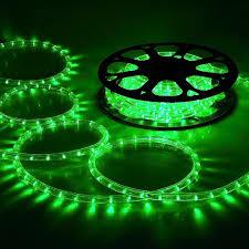 Delight Holiday Lighting Led Rope Light Spool Green 50 Ft