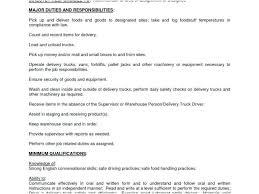 Pizza Delivery Driver Job Description For Resume Best Pizza