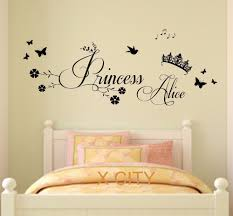 princess crown personalised name children girl bedroom wall art sticker removable vinyl transfer decal home decoration s m l in wall stickers from home  on personalised wall art stickers quotes with princess crown personalised name children girl bedroom wall art