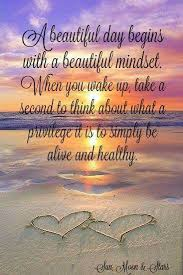 Inspirational Quotes For A Beautiful Day Best Of A Beautiful Day Begins With A Beautiful Mindset ☀ Soulful