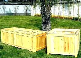wood planter ideas large wood crate planter ideas
