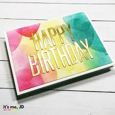 Ink Blend Balloon 5 Diy Birthday Cards Handmade Easy And Simple