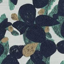 Small Picture Modern Navy Blue Gold Upholstery Fabric Contemporary Teal Gold