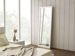 Plain White Floor Mirror Modrest Roma Modern I Intended Models Ideas