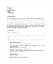 6 Sample Babysitter Resumes Sample Templates
