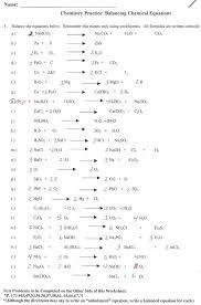 balancing equations worksheet 1 awesome balancing chemical 993456