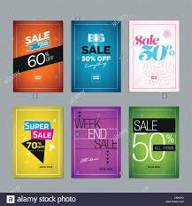 Social Media Design Templates Collection Of Sale Poster Or Website Banner Design Templates Vector