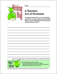 writing bug a random act of kindness education world writing bug a random act of kindness