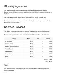 Permalink to Commercial Cleaning Contract Template / Janitorial Contract Template 2 Free Templates In Pdf Word Excel Download : A cleaning contract can be a very first step for you when you ready to get or provide cleaning services.