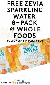 Sparkling Image Coupons Free Zevia Sparkling Water 8 Pack At Whole Foods Coupons