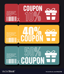coupon design coupon design sale icon shopping concept vector image