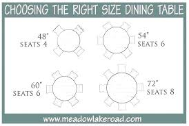 dining table round seats 6 dining table size for 6 round chairs what seats room sizes per