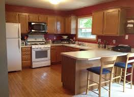 Light Brown Kitchen Cabinets Wall Color Maple Ideas Including