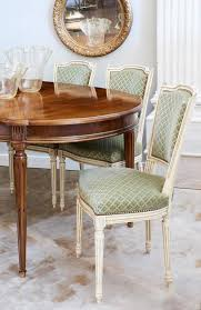 sage green furniture. Set Of Six Louis XVI Style Dining Chairs With Painted Wooden Frames. Each Chair Has Sage Green Furniture