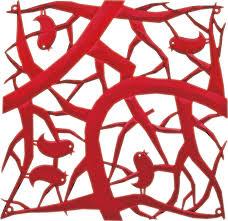 <b>Набор из 4 декоративных</b> элементов Pip Koziol, красный ...