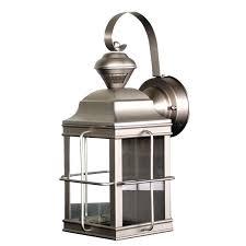 brushed nickel outdoor lights prairie collection 1 light outdoor brushed nickel wall lantern