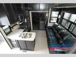 dutchmen triton fifth wheel toy hauler living area