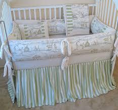 cottontail bunny toile baby crib bedding set boy girl