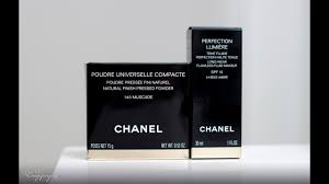 review chanel perfection lumiere and poudre universelle pacte