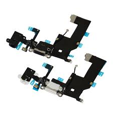 replacement charging dock port connector flex cable for iphone 5 white black 2 pcs