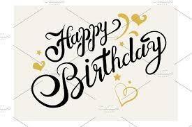 Happy Birthday Lettering Script Fonts Creative Market