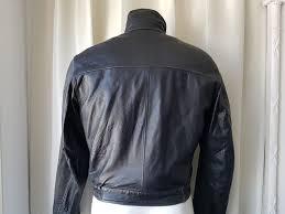 emporio armani leather jacket jacket