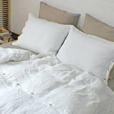 washed linen duvet soft washed linen duvet covers with shell on closure oned pillowcases white washed