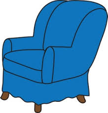 chair clipart. arm chair clipart image: clip art illustration of a blue