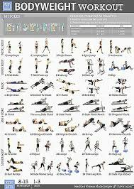 Workout Chart Gym Home Exercise Posters Set Of 5 Workout Chart Large 19