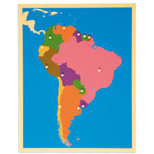 Puzzle Map South America