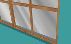 broken window in a wooden frame