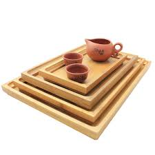 Wooden Trays To Decorate Wooden Serving Tray Kung Fu Tea Cutlery Trays Storage Pallet Fruit 79