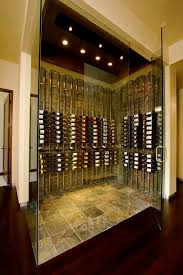 vintage wine holder wine cellar contemporary with frameless glass door chrome cabinet and drawer pulls