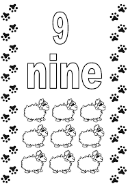 Small Picture Number 9 Coloring Pages Free Printable Crafts To Do With Kids