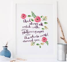 Quote Art Extraordinary Typographic Quote Floral Wall Art Print By Rory The Bean