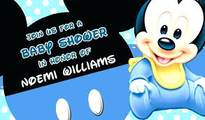 Mickey Baby Shower Invitations Baby Mickey Mouse Baby Shower