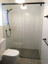 sliding frameless shower screens