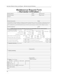 Maintenance Request Form Work Order Template Xls Operations Manual