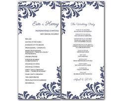 Diy Vintage Leaf Wedding Program Microsoft Word Template Arixta