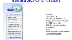 Free Birth Chart Analysis Free Astrology Birth Chart Analysis And Calculator Youtube