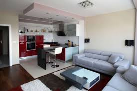 Small Flat Kitchen Kitchen Room Nice Beautiful Mini Bar Minimalist Contemporary