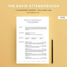 The David Attenborough One Page Resume Only
