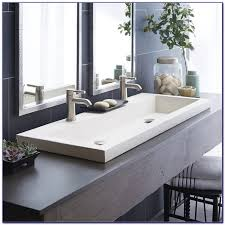 bathroom sink with 2 faucets. bathroom trough sink 2 faucets with