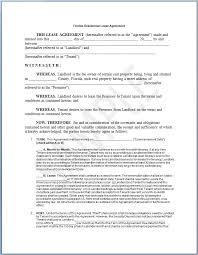 Free Commercial Lease Agreement Forms To Print Commercial Lease Agreement Florida Template Florida Commercial Lease