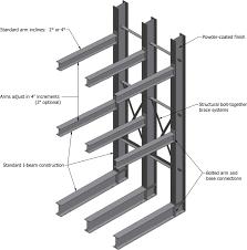 Heavy Duty Cantilever Storage Racks I Beam Racking