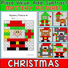 Color By Number Hundreds Chart Christmas Math Hundreds Chart Mystery Pictures Color By Number